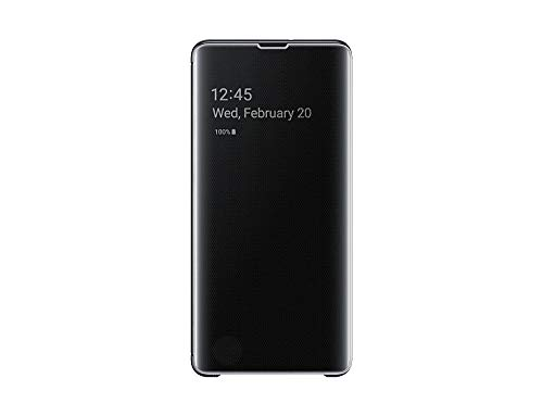 Samsung Official Galaxy S10+ Plus Clear View Stand Cover Case - Black (EF-ZG975CBEGWW)