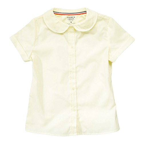 French Toast S/S Peter Pan Fitted Shirt (Sizes 4- 6X) - yellow, 5