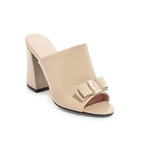 En el verano de código pescado boca sandalias de tacón alto mujer zapatillas Meter white