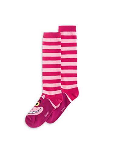 Disney Parks Alice in Wonderland Cheshire Cat Pink Disney Novelty Socks