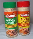 BOHIO Adobo Value Pack - 1 Adobo with Pepper & 1 Adobo w/o Pepper - 16.5 oz Jar (Count of 2)
