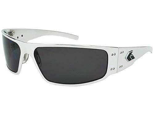 Gatorz Eyewear, Magnum Model, Aluminum Frame Sunglasses - Polish/Smoked Polarized Lens