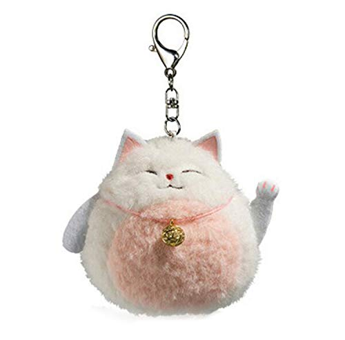 (Smilesky Plush Cat Keychain Stuffed Animal Toys Dolls Ornaments Pendant Lucky Kitty Pink 4