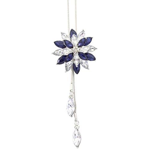 Cameo Large Antique (Womens Necklaces, Lamolory Bridal Engagement Crystal Rhinestone Snowflake Pendant Necklace)
