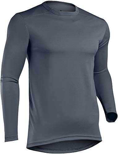 Indera Men's Mesh Knit Performance Thermal Underwear Top with Silvadur, Slate, XX-Large (Thermal Knit Performance)