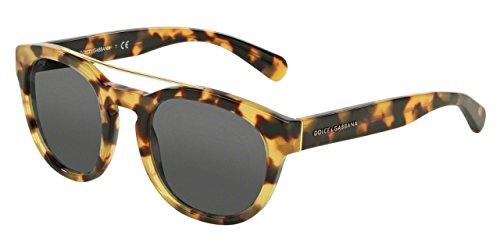 D&G Dolce & Gabbana Women's 0DG4274 Round Sunglasses, Cube Havana, 50 mm
