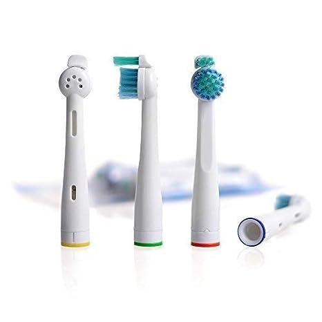 8 uds (2x4) de cabezales de recambio para cepillos de dientes E-Cron®. Totalmente compatibles recambios cabezales con Philips Sonicare Sensiflex recambios.