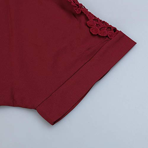 Chemisier 4xl Red Aediea Wine Femme 0vxgzT