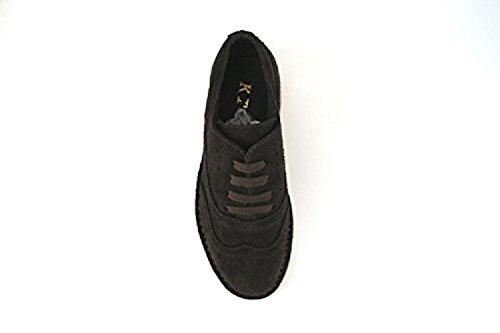 KTL BY CORAF AJ470 zapatos elegantes mujer gamuza marrón oscuro (40 EU) zwWriP