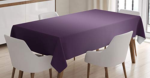 Ambesonne Ombre Tablecloth, Hollywood Theater Inspired Purple Colored Modern Design Room Decorations, Dining Room Kitchen Rectangular Table Cover, 52 W X 70 L Inches, Plum ()