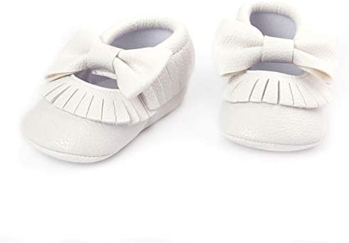 Willow White Baby Moccasin Shoes- Sugar Tease