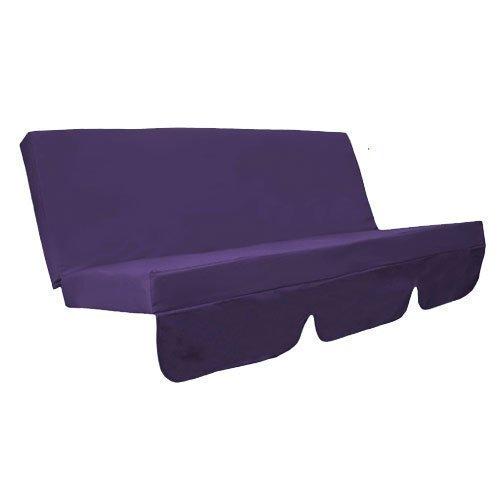 Water Resistant Swing Seat Bench Cushion for Garden Hammock in Purple Gardenista