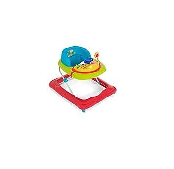 Hauck Player Jungle Fun - Andador para bebes a partir de 6 meses, juego de mesas con música, ruedas, altura ajustable, asiento acolchado, diseño colorido H-64201