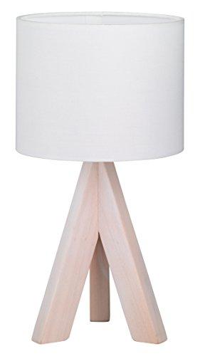 Reality R50741001 - Sobremesa, 1 x E14, IP20, 40 W, 230 V, base de madera, color blanco