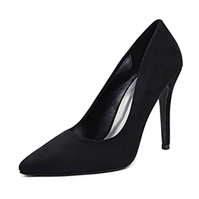 Stupmary Women Pumps Shoes Pointed Toe High Heels Ladies Wedding Party Dress Stilleo Heeled Shoes Black Size: 5.5