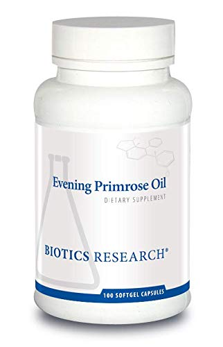 Biotics Research Evening Primrose Oil - Potent Gamma-Linolenic Acid (GLA) Source, Linoleic Acid, Healthy Inflammatory Response, Cardiovascular, Neurological, Skin, Women's Health. 100 Softgel Capsules