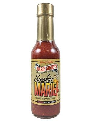 Marie Sharp's Smokin Marie Habanero Pepper Sauce, 5oz. (Pack of 3)