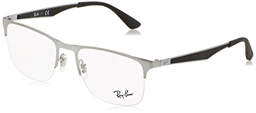 Ray-Ban Men's RX6362 Eyeglasses Shiny Gunmetal 55mm (Ray-ban 2502)
