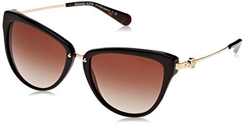 Michael Kors ABELA II MK6039 Sunglasses 314713-56 - Dk Tortoise/ Blue Frame, Smoke - Eyewear Michael Kors