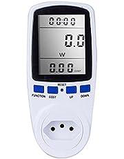 Tomshin Medidor de energia digital LCD wattímetro dispositivo de monitoramento wattagem eletricidade Kwh Power Measuring Outlet Analyzer