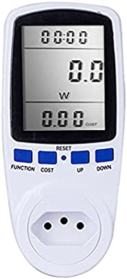 Romacci Medidor de energia digital LCD wattímetro dispositivo de monitoramento wattagem eletricidade Kwh Power