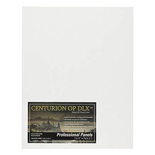 Centurion Deluxe Oil Primed Linen Panel 3-Pack 11x14""