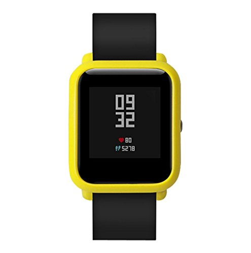 Price comparison product image Voberry Slim Colorful Frame PC Case Cover Protect Shell For Huami Amazfit Bip Younth Watch (Yellow)