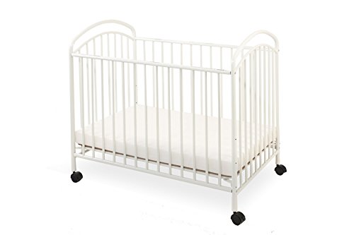 LA Baby Classic Arched Compact Size Metal Non-Folding Crib, Vanilla Review