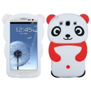 HJX i9300 S3 Red New Cute 3D Cartoon Panda Silicone Soft Protective Cover Case Skin For Samsung Galaxy S3 i9300