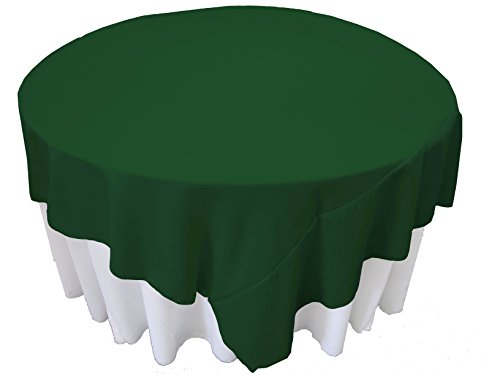 LA Linen Polyester Poplin Square Tablecloth, 90 by 90