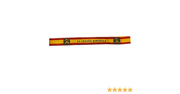 Pulsera Tela Legión Española con Bandera de España. Medida: 30 x 1.50: Amazon.es: Deportes y aire libre
