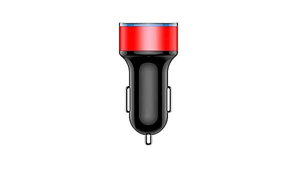 Luckiests Dual USB 5V 2A Auto PC M/óvil Cargador de Metal Cargador port/átil Encendedor del Coche