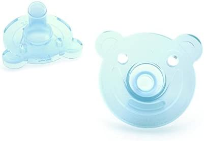 Avent Philips Soothie Bear Shape Pacifier Blue//Green 2 Pack Size 0-3 Months