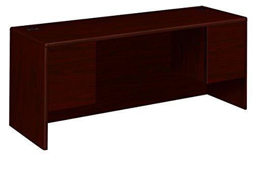HON 10743NN 10700 Kneespace Credenza, 3/4 Height Pedestals, 72w x 24d x 29 1/2h, Mahogany - Mahogany Metal Credenza