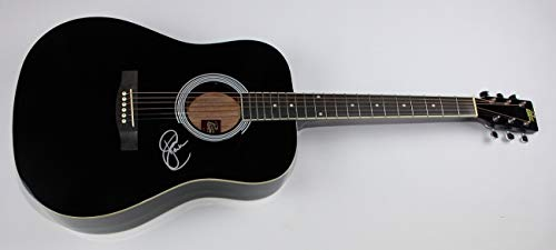Sara Evans Real Fine Place Signed Autographed Black Full Size Acoustic Guitar Loa