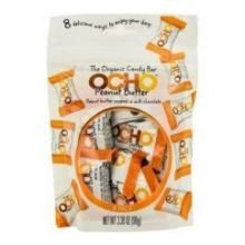 Ocho Organic Peanut Butter Covered Milk Chocolate Mini Candy Bar, 3.38 Ounce Pouch - 12 per case. by Ocho Candy