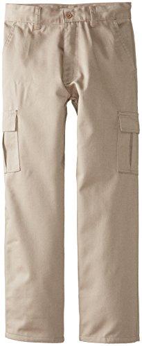Genuine School Uniform Boys Twill Pant (More Styles Available), Cargo Khaki, 14 - Khaki Cargo Style Pants