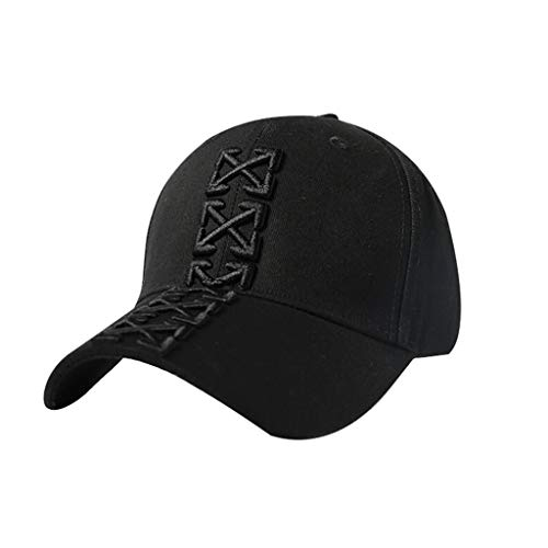 Four Seasons Baseball Cap Breathable Embroidery Pattern Classic Polo Cap Visor Outdoor Sports Cap Hiking Cap Hunting Hat Cotton Cap Black White