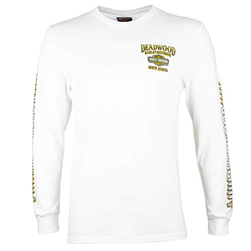 - Harley-Davidson Deadwood Face Off Long Sleeve (X-Large, White)