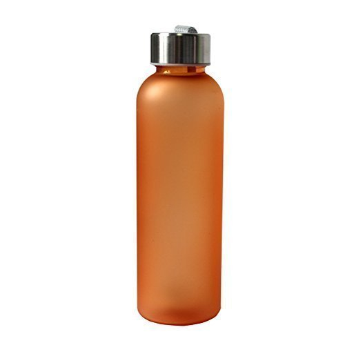 600ML Portable Camping Cycling Frosted Bottle Water Bottle(Orange)
