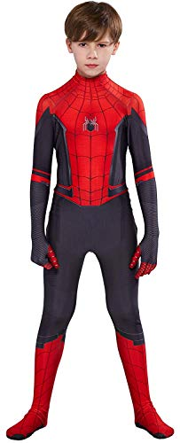 RELILOLI Spiderman Costume (Kids-M(110-120cm), FAR from Home)