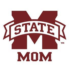 Mississippi State Bulldogs MOM Clear Vinyl Decal Car Truck Sticker MSU Bulldogs ()