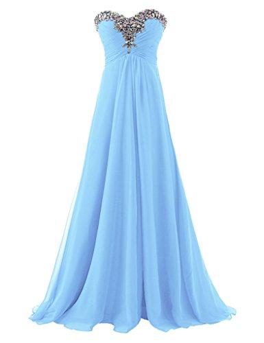 Abendkleider Langes Erosebridal Hellblau Schatz Ballkleid Trägerloses Formale 4OqHSw