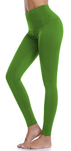 - Aenlley Womens High Waist Yoga Pants Tummy Control Workout Training Tight Leggings Color Green Size XS