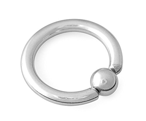 Scrap Metal 23 316L Surgical Steel Captive Bead Ring CBR 10g 1 inch