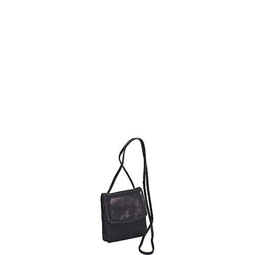 Derek Alexander Leather Complete Small Wallet w Shoulder Strap or Belt Loop - ()
