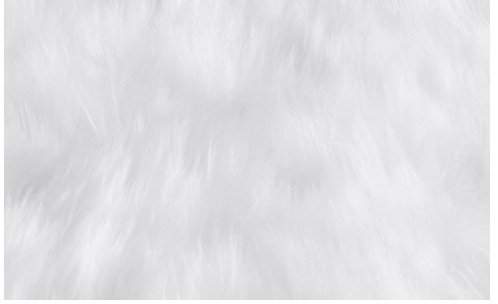 Super Soft Faux Sheepskin Silky Shag Rug 5 x8 , White