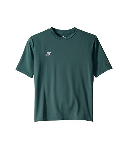 (O'Neill Wetsuits Youth Premium Skins Short Sleeve Sun Shirt, Teal, Size 16)