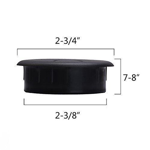 Uu Buy 5 Pack Black Flexible Wire Organizer Desk Grommet
