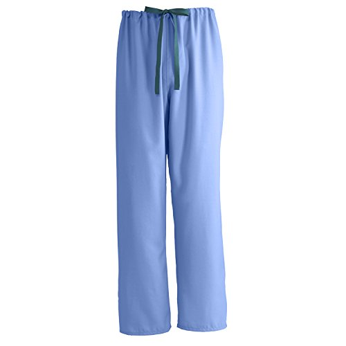 Medline PerforMAX Reversible Drawstring Scrub Pant, ANG-CC, Medium, Ceil Blue